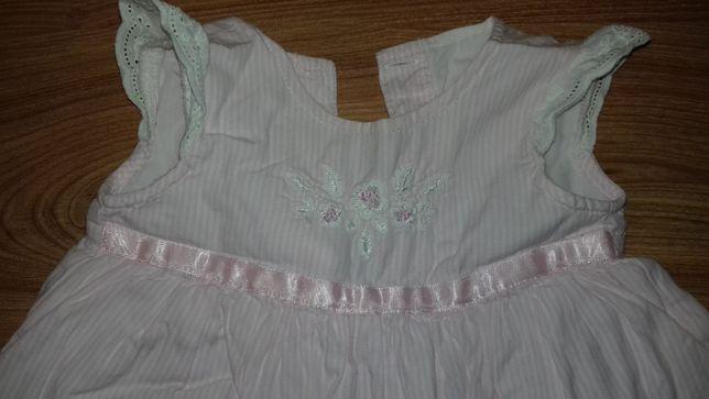 Платье для малышки на 3-9 мес.