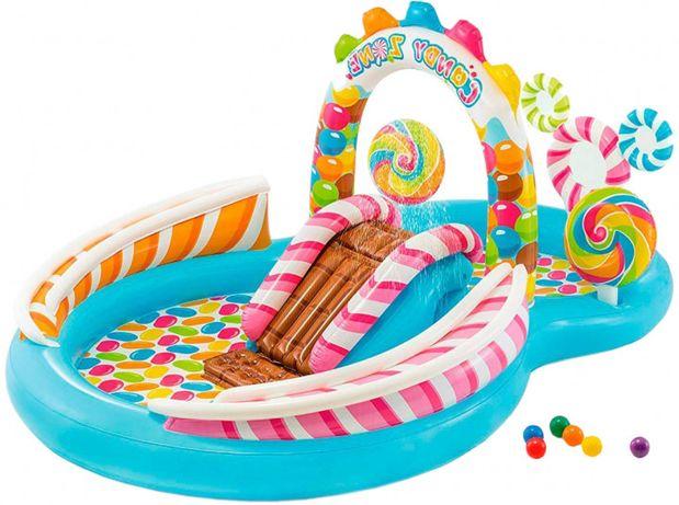 Игровой надувной центр ,горки с фонтаном для детей