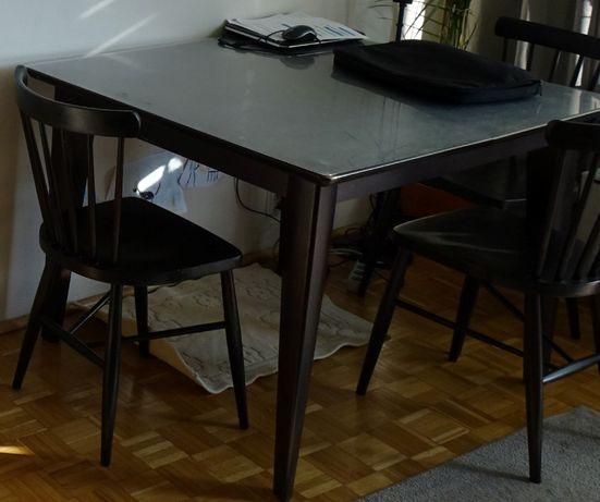 Stół Vario BRW 90x110-260 (z krzesłami)