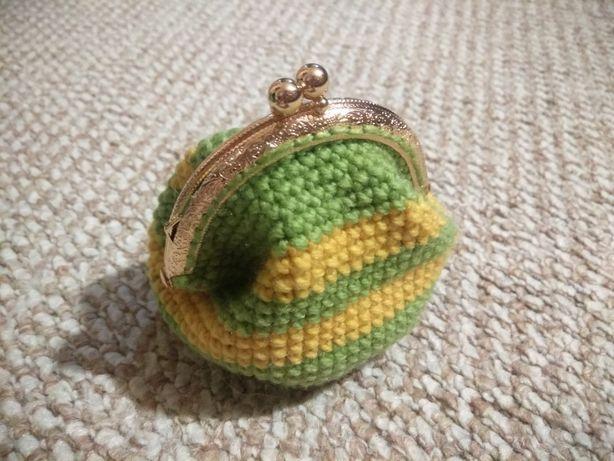 кошелёк, монетница, вязанный кошелек