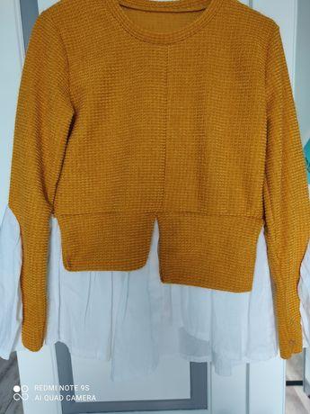 Musztardowy sweterek 2w1
