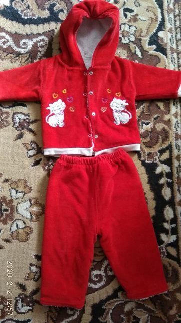 Махровый детский велюровый костюмчик