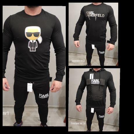 Dres Komplet Karl Lagerfeld Czarne 3Zestawy Nowe Logowane Nowość