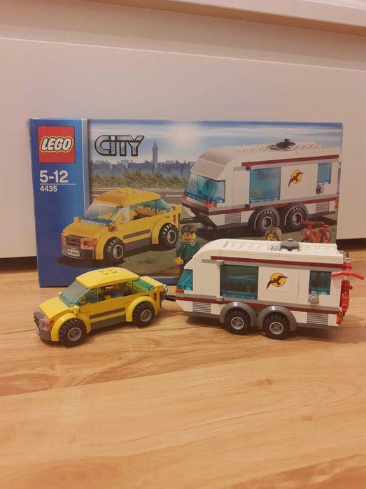 LEGO City 4435 samochód z przyczepą kempingową Kompletny Słupno - image 1