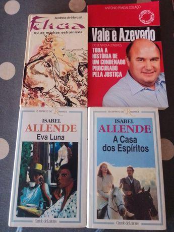 Conjunto 4 Livros 3 do Círculo de Leitores e 1 Vale Azevedo Biografia