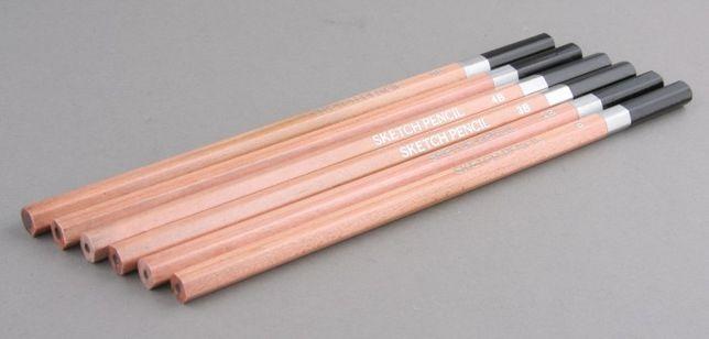 NOWY Zestaw ołówków B, 2B, 3B, 4B, 6B, 8B