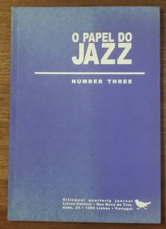 o papel do jazz, number three, cotovia