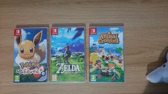 Vendo jogos para a Switch - Let's Go Eevee, Zelda & Animal Crossing