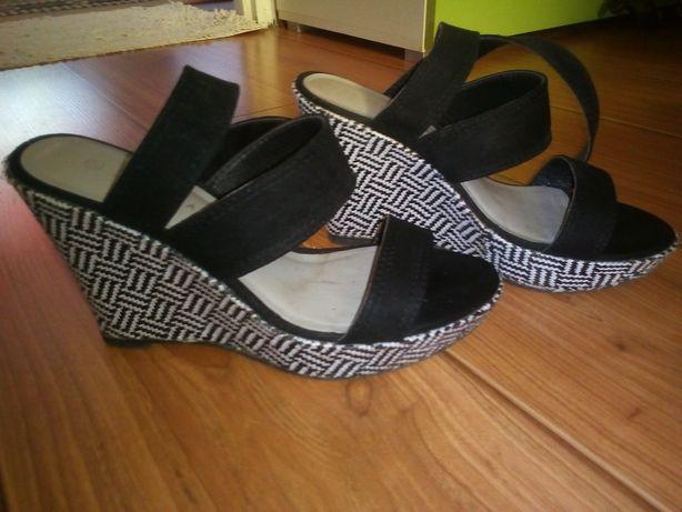 Sandały na koturnie/37/koturn 10,5cm