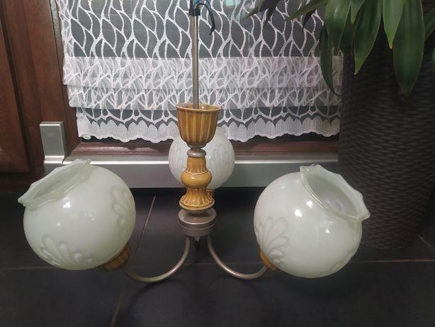 Lampa PRL ceramiczna retro vintage