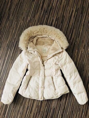 Kurtka płaszcz parka Zara L puch naturalny