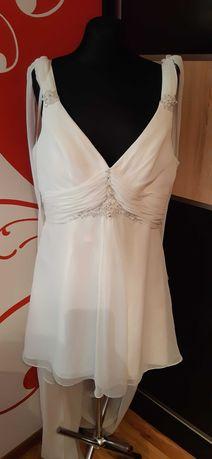 suknia ślubna poprawinowa 46