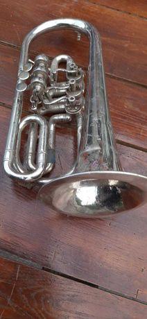 духовой инструмент труба Корнет 1968 год Ленинград СССР под ремонт