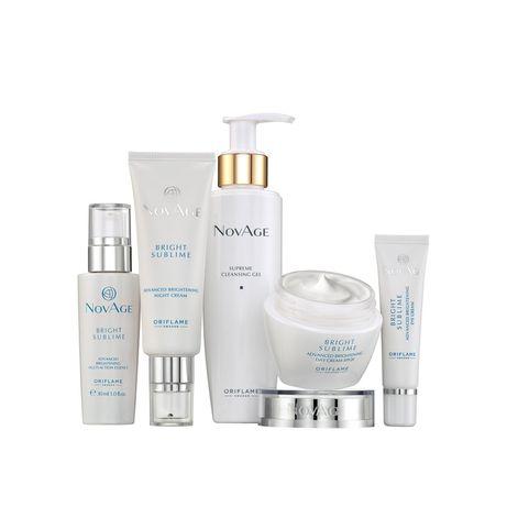 Zestaw 5 kosmetyków NovAge Bright Sublime - zmniejsza przebarwienia