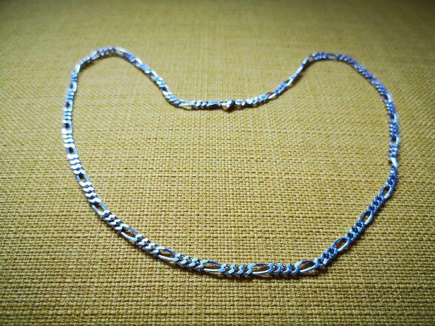 Srebrny łańcuszek, próba 925, długość 50cm