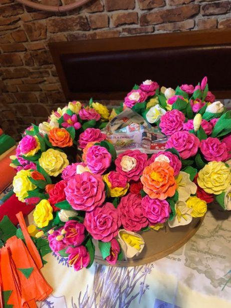 Wiosenne kwiaty z bibuły • Rękodzieło