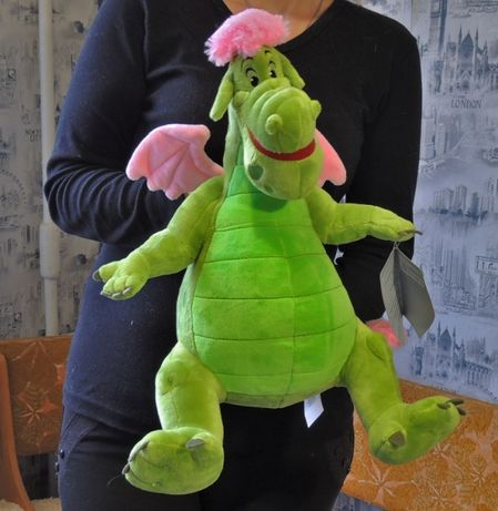 Мягкая игрушка дракон Эллиот (Пит и его Дракон) Дисней Оригинал!