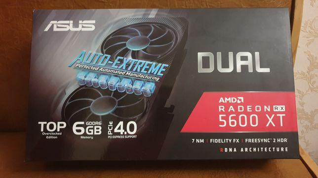 Продам видеокарту 5600XT ASUS DUAL гарантия