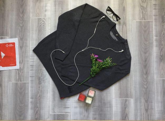 Свитер серый EDC, размер М L , тёплый котон шерсть кофта худи