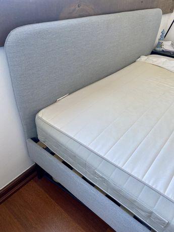 Cama de casal + estrado + colchão Ikea