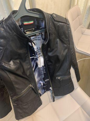 Продам кожаную куртку Италия