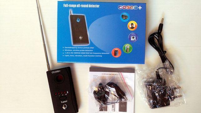 Detector anti-espião de dispositivos Vídeo Audio, GPS, etc