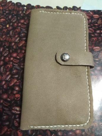 Продам новый кожаный кошелёк ручной работы