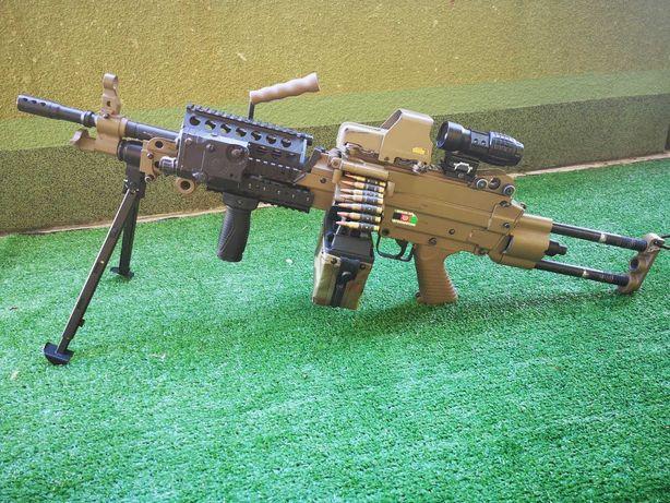 M249 Para MK46 replika asg Karabin wsparcia dodatki TUNING DUZY ZESTAW