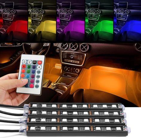 LED подсветка салона RGB с пультом 20 цветовых режимов