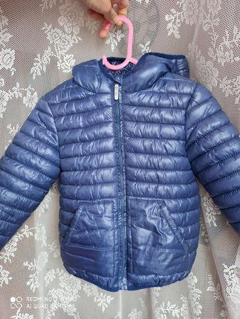 Niebieska kurtka Reserved 98, 5 sukienek hm
