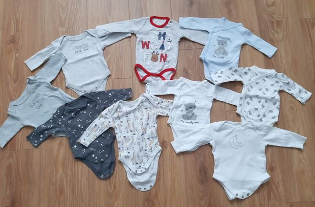 Sprzedam body niemowlęce z długim rękawem rozmiary 50-56 8zł/szt