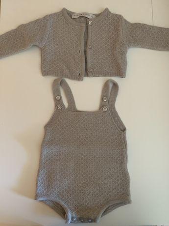 Conjunto malha bebé - Maria Bianca 1-3m 12€