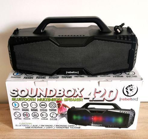 nowy z gwarancją głośnik mobilny bluetooth REBELTEC Soundbox 420