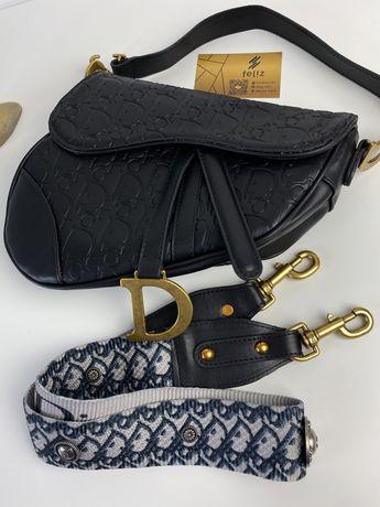Torebka damska Dior Saddle czarna ciśnienie premium w pudełku