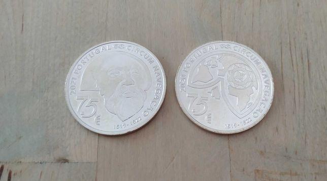 Moedas em prata comemorativas 7,5€ Fernão de Magalhães