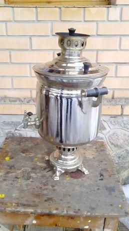 Продам самовар латунный , 7, литров , на дровах , сделано в СССР