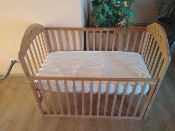 Кроватка/Ліжечко 0-3 года, с матрасом 120х60, дерево, Mothercare