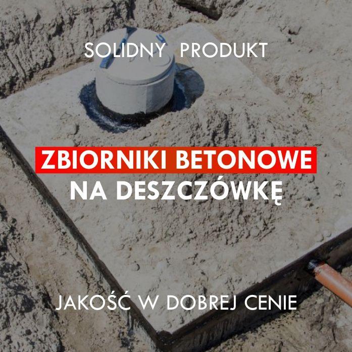 Zbiornik betonowy na deszczówkę Szambo betonowe Producent 100%szczelny Iwonicz-Zdrój - image 1