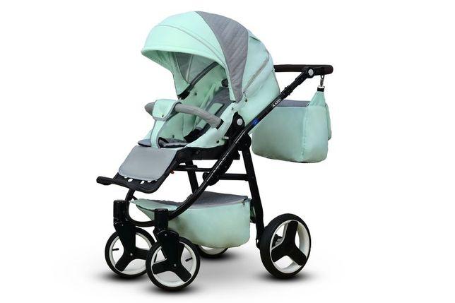 Wózek spacerowy modne kolory do wyboru miętowy,szary, beżowy, biały