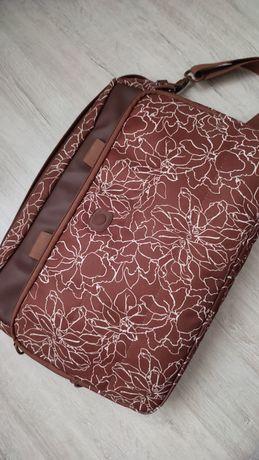 Сумка для ноутбука, под ноутбук, коричневая сумка