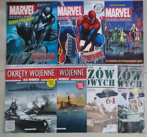 czasopismo, gazetka, Marvel kolekcja figurek ,okręty wojenne,