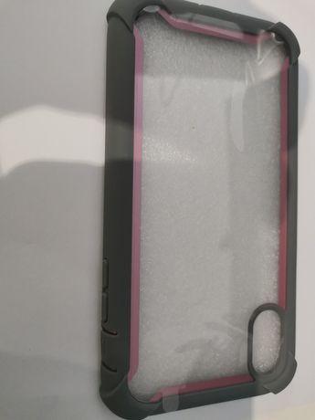 Capa borracha iPhone xs cor de rosa