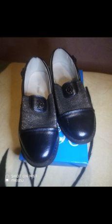 Туфли эко-кожа для девочки р. 34