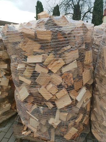 Drewno opałowe mieszanka dąb buk olcha brzoza 1,5m3 paleta