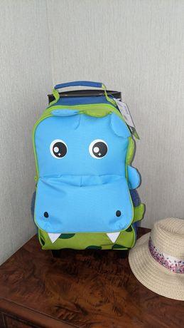 Чемодан детский валіза дитяча дино динозавр как skip hop на подарок