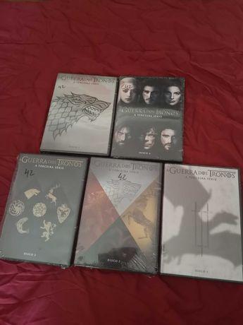 Guerra dos Tronos 3° temporada DVDs
