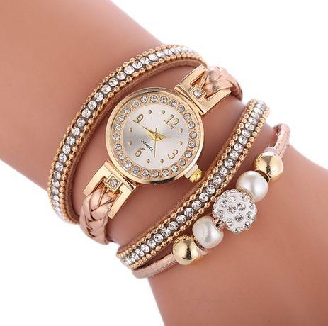 ХИТ! Женские кварцевые часы - браслет со стразами (Разные цвета)