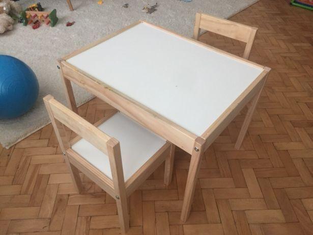 Столик и 2 стульчика из дерева