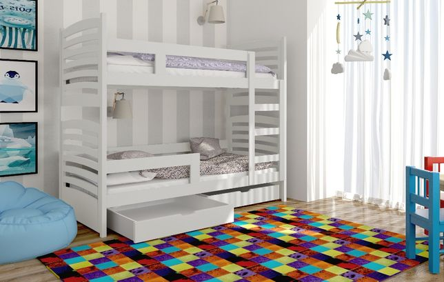 Piętrowe dwu osobowe łóżko OLEK! Kolory do wyboru