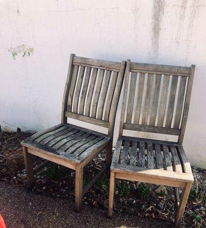 Cadeira Jardim em Madeira Teca